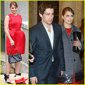 Dianna Agron & Christian Cooke: Louis Vuitton Store Opening!