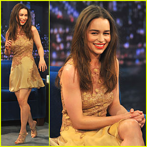 Emilia Clarke: 'Game of Thrones' Promo on 'Fallon'!