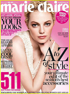 Emma Stone Covers 'Marie Claire Australia' May 2013