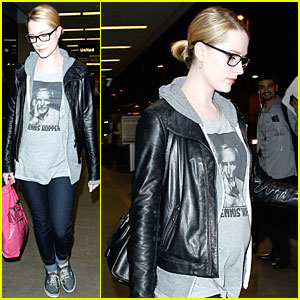 Evan Rachel Wood: Dennis Hopper Covering Baby Bump!