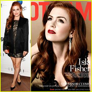 Isla Fisher: 'Gotham' Magazine Release Party!