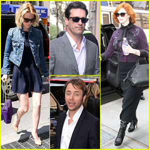 January Jones & Christina Hendricks: 'Mad Men' at 'Katie'!