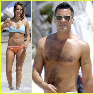 Jessica Alba: St. Barts Bikini Babe with Shirtless Cash Warren!