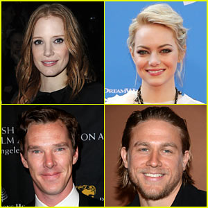Emma Stone & Jessica Chastain Reunite for 'Crimson Peak'