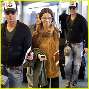 John Stamos: Back to L.A. with Angela Sarafyan!