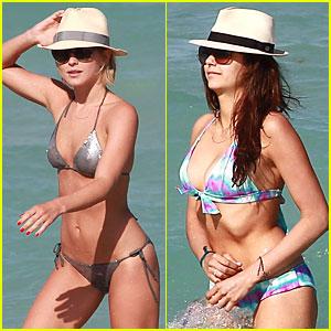 Julianne Hough & Nina Dobrev: Bikini Miami Babes!