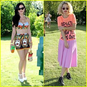 Katy Perry & Rita Ora: Lacoste L!ve Pool Party at Coachella!