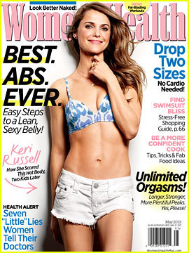 Keri Russell Bares Abs for 'Women's Health' May 2013