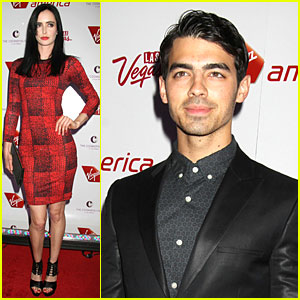 Krysten Ritter  & Joe Jonas: Virgin America's New Route Celebration!