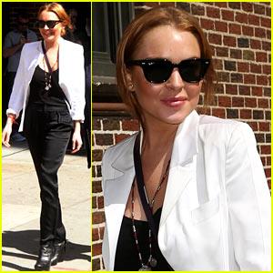 Lindsay Lohan: 'Late Show' Appearance Tonight!