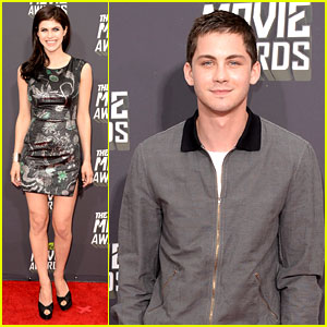 Logan Lerman & Alexandra Daddario - MTV Movie Awards 2013