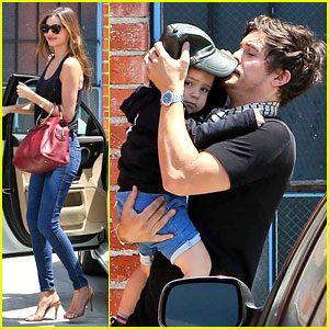 Miranda Kerr & Orlando Bloom 'Romp' Around with Flynn