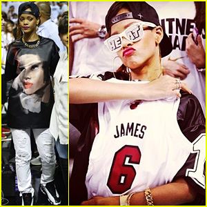 Rihanna: Miami Heat Game Night!