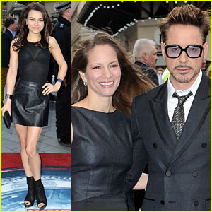 Robert Downey, Jr. & Samantha Barks: 'Iron Man 3' UK Premiere!