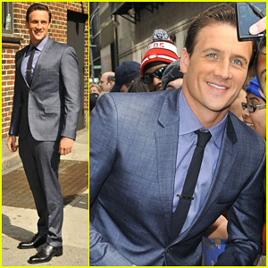 Ryan Lochte: 'Late Show with David Letterman' Visit!