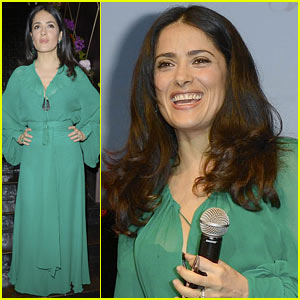 Salma Hayek: Les P'tits Cracks Charity Dinner Chair!