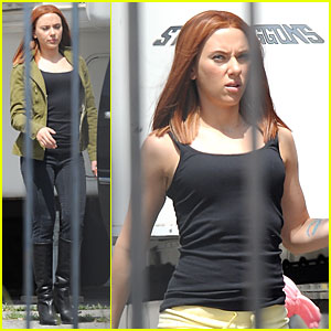 Scarlett Johansson: Red Hair on 'Captain America 2' Set!