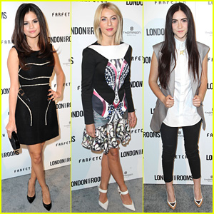 Selena Gomez & Julianne Hough: London Show Rooms L.A.