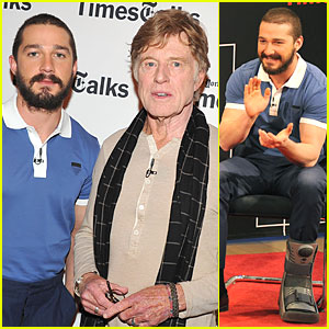 Shia LaBeouf: Robert Redford Held My Hand!