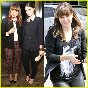 Sophia Bush & Michelle Trachtenberg: Smythe Spring Collection Dinner!