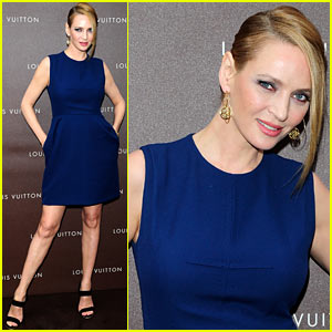 Uma Thurman: Louis Vuitton Maison Opening in Germany!