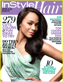 Zoe Saldana Covers InStyle Hair's Annual Issue