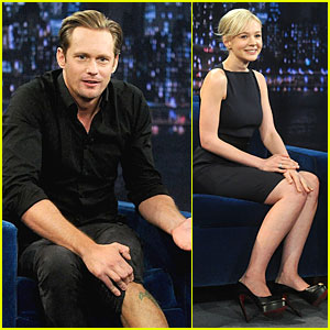 Alexander Skarsgard: Leg Tattoo on 'Fallon' with Carey Mulligan!