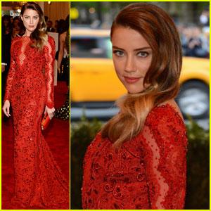 Amber Heard - Met Ball 2013 Red Carpet