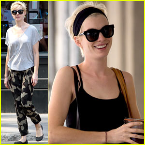 Anne Hathaway Works it Out in New York City