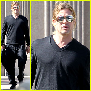 Brad Pitt Steps Out After Angelina Jolie's Double Mastectomy