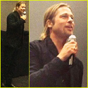 Brad Pitt Surprises Fans at 'World War Z' Screening in New Jersey (Exclusive Details!)