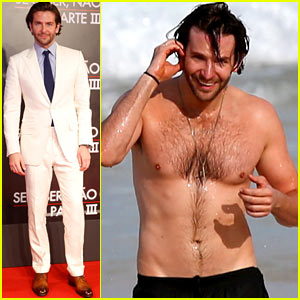 Bradley Cooper Premieres 'Hangover III', Swims Shirtless in Rio!