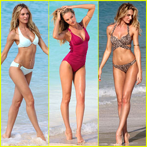 Candice Swanepoel in Bikini Photo Shoot on the Beach!
