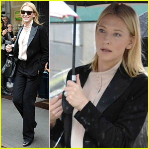 Cate Blanchett: 'Giorgio Armani' Fragrance Commercial Filming