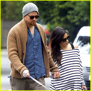 Channing Tatum & Jenna Dewan Hold Hands on Dog Walk
