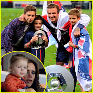 David Beckham Celebrates Last Soccer Game with Family!