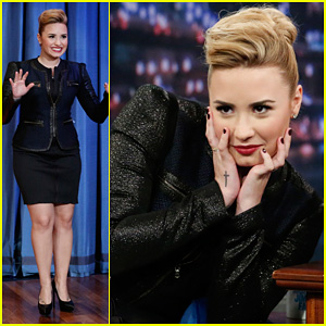 Demi Lovato Promotes 'Demi' on 'Late Night with Jimmy Fallon'!