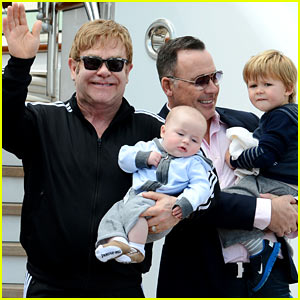 Elton John & David Furnish: Venice Holiday with Zachary & Elijah!