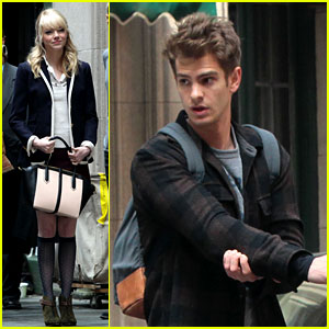 Emma Stone & Andrew Garfield: Day 82 on 'Spider-Man 2'!