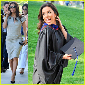 Eva Longoria Graduates with a Master's Degree from CSU!