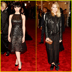 Felicity Jones & Dree Hemingway - Met Ball 2013 Red Carpet