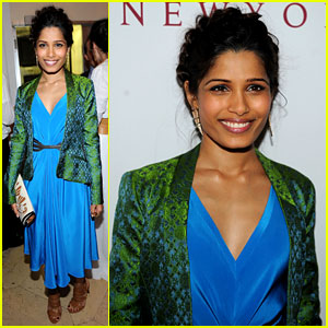 Freida Pinto: Maiyet Varanasi Silk Capsule Collection Dinner