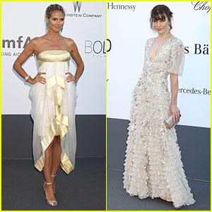 Heidi Klum & Milla Jovovich: amfAR's Cannes Gala!