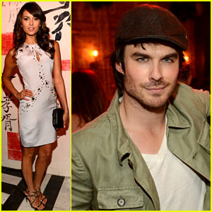 Ian Somerhalder &amp; Nina Dobrev: CW Upfronts Party!