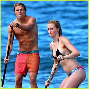 Ireland Baldwin: Bikini Paddle Boarding with Beau Slater Trout!