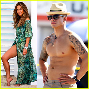 Jennifer Lopez: Music Video Set with Shirtless Casper Smart!