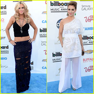 Jenny McCarthy & Alyssa Milano - Billboard Music Awards 2013 Red Carpet