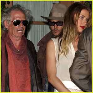 Johnny Depp & Amber Heard: Dinner with Keith Richards!