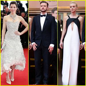 Justin Timberlake & Jessica Biel: 'Inside Llewyn Davis' Cannes Premiere