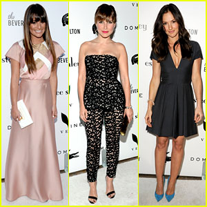 Lea Michele & Sophia Bush: Beverly Hilton Pool Unveiling!